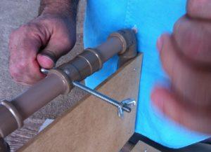 Borboleta para ajuste do parafuso