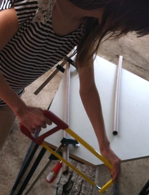 Corte de tubo PVC